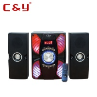 C&Y C2 2.1 bluetooth speaker factory home theatre sound system with led light